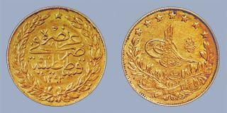 Sultan II. Abdülhamid'in 1876'da bastırdığı para