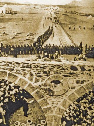 Sultan II. Abdülhamid'in yaptırdığı Şam-Hicaz demiryolunun açılış merasimi