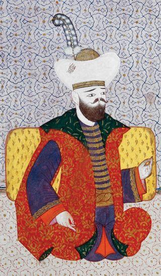 Sultan I. Bayezid (Silsilenâme-i Osmâniyye, İÜ Ktp., TY, nr. 9366, vr. 14a)